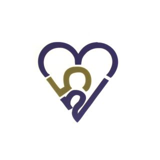 253 Heart Sticker - Purple & Gold (Small)