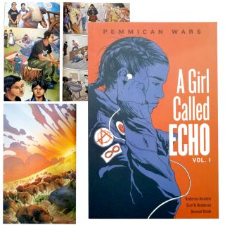 A Girl Called Echo, Book 1: Pemmican Wars - by Katherena Vermette, illustrated by Scott Henderson