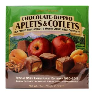 Chocolate-Dipped Aplets & Cotlets - Liberty Orchards - 7.5 oz