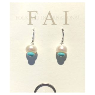 FAI Jewelry - Sterling Silver with Pearl and Stone Earrings