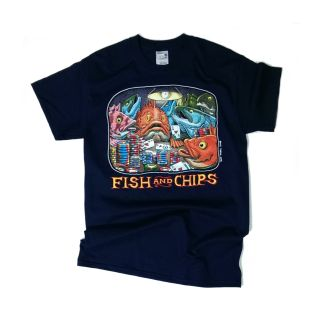 Fish and Chips T-Shirt - By Ray Troll