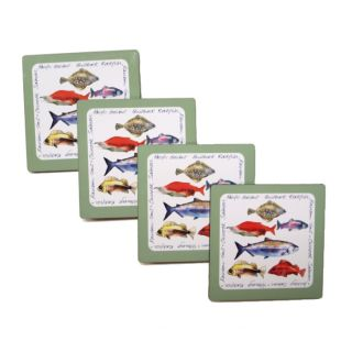 Fish Coasters -Set of 4 Coasters -  By Sara Bastien