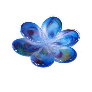 Glass Eye Studio - Affection Dish - Blue Flower - approx 5