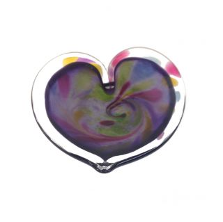 Glass Eye Studio - Affection Dish - Purple Heart - approx 5