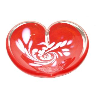 Glass Eye Studio - Affection Dish - Red Heart - approx 5