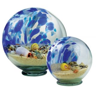 Glass Eye Studio Blue Sea Globe - Small - 3.5