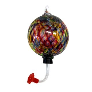 Glass Eye Studio - Hummingbird Feeder - Rainbow Diamond - 4