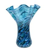Glass Eye Studio - Large Ruffle Vase - Moonlit Sea - 9