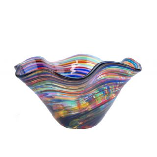 Glass Eye Studio - Mini Wave Bowl - Fiesta - 6