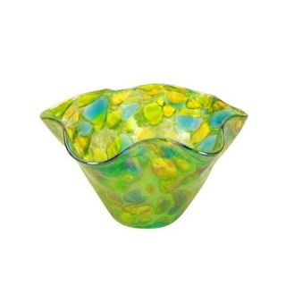 Glass Eye Studio - Mini Wave Bowl - Spring Green Twist - 6