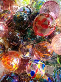 Glass Eye Studio Mt St Helens Ash Glass Ornaments - Baker's Dozen - Best Price: 13 for the price of 12