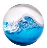 Glass Eye Studio Paperweight - Glacier - 3