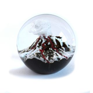 Glass Eye Studio Paperweight - Volcano - 3