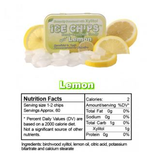 Ice Chips - Lemon Xylitol Mints - 1.76 oz