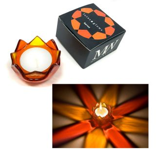 Lotus Glow Tea Light Votive - Harvest
