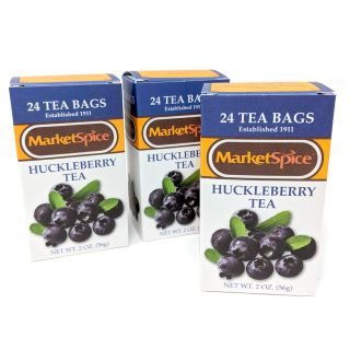 Market Spice Huckleberry Tea - 72 bags (3 boxes)