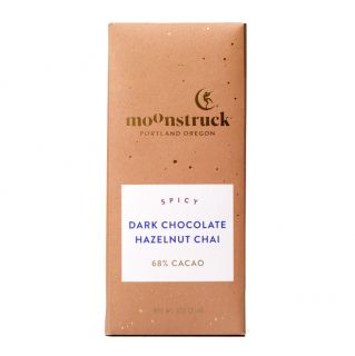 Moonstruck Hazelnut Chai Dark Chocolate Bar - 3 oz