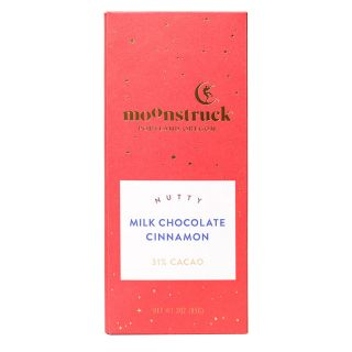 Moonstruck Nutty Cinnamon Milk Chocolate Bar - 3 oz