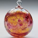 Mt. St. Helens Ash Hand Blown Glass Ornament - Rose Quartz - 3'' diameter