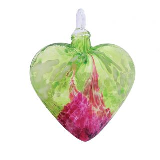 Mt. St. Helens Volcanic Ash Hand Blown Art Glass Heart Ornament - Bellina - 3