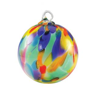 Mt. St. Helens Volcanic Ash Hand Blown Art Glass Ornament - Fiesta - 3'' diameter