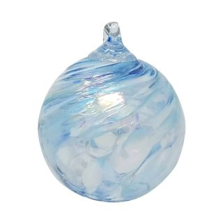 Mt. St. Helens Volcanic Ash Hand Blown Art Glass Ornament - Frozen - 3'' diameter