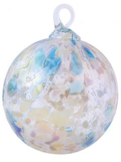 Mt. St. Helens Volcanic Ash Hand Blown Art Glass Ornament - Mermaid - 3'' diameter