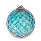Mt. St. Helens Volcanic Ash Hand Blown Art Glass Ornament - Topaz Diamond - 3'' diameter
