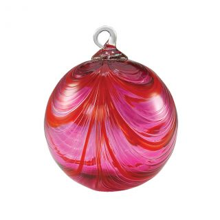 Mt. St. Helens Volcanic Ash Hand Blown Art Glass Ornament - Valentine - 3'' diameter