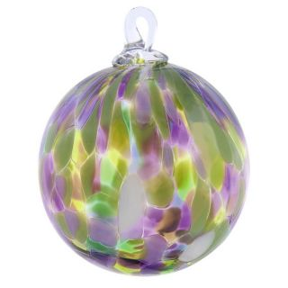 Mt. St. Helens Volcanic Ash Hand Blown Art Glass Ornament - Water Lilly - 3