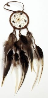 Native American Dream Catcher - Dark Brown - 2.5