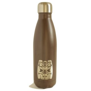 Native American Insulated Water Bottle - Bear (16 oz)