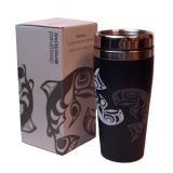 Native American Salmon Design Insulated Travel Mug - 7