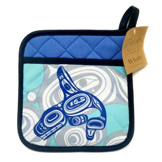 Native American - Whale Design - Pot Holder