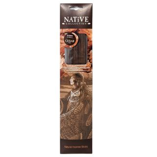 Native Collection Hand-Dipped Natural Incense - Cedar - 20 sticks