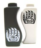 North Coast Indian Bear Claw and Salmon Salt and Pepper Shakers
