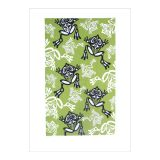 North Coast Indian Frog Design Dish Towel
