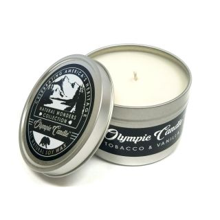 Olympic Candle 6oz Soy Travel Candle - Tobacco Vanilla