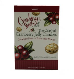 Original Cranberry Jelly Candies - Cranberry Pates de Fruits with Walnuts - 2 oz
