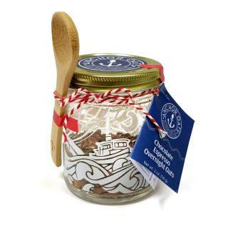 Overnight Oats Single Serving Gift Jar & Spoon - Chocolate Espresso - 2oz