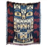 Pacific Northwest Coast Native American - Animal Patterns - Cotton Throw Blanket - 64