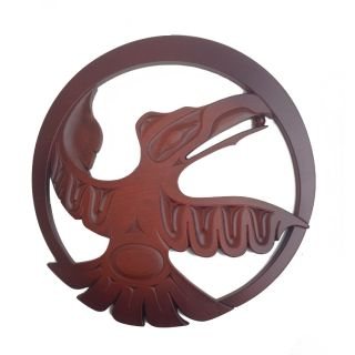 Pacific Northwest Coast Native American Raven Trivet - 8