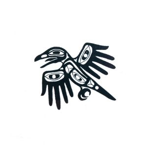 Pacific Northwest Native American Temporary Tattoo - Hands of Creation