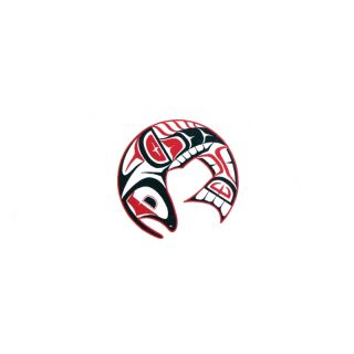 Pacific Northwest Native American Temporary Tattoo - Salmon