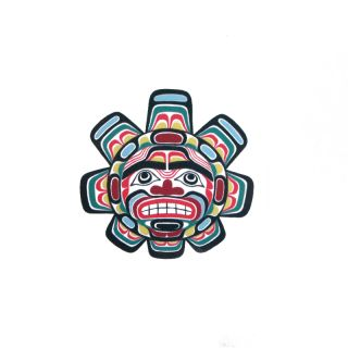 Pacific Northwest Native American Temporary Tattoo - Sun