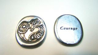 Pocket Spirit - Eagle Circle (COURAGE) - by Mark A. Jacobson, Ojibway