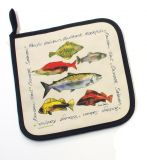 Quilted Fish Design Pot Holder - By Sara Bastien