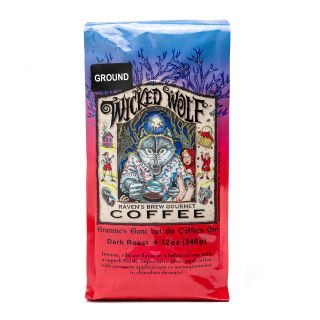 Raven's Brew - Wicked Wolf Dark Roast Coffee - 12oz Ground