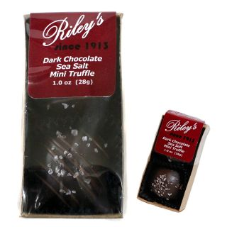 Riley's Dark Chocolate Sea Salt Mini Truffles - 1oz
