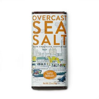 Seattle Chocolates - Overcast Sea Salt Truffle Bar - 2.5 oz